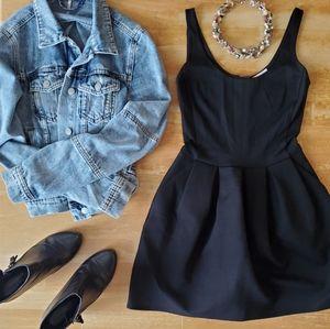 Wilfred Black Skater Dress w/ Pockets